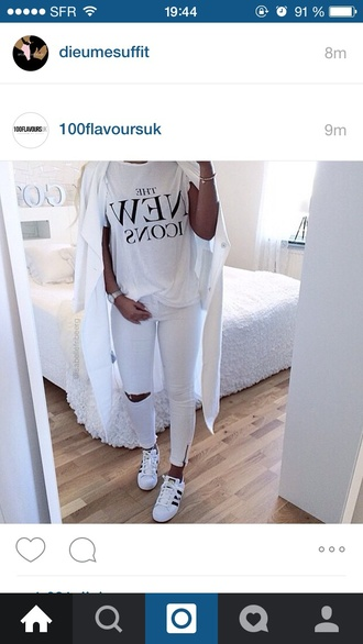 jeans skinny white white jeans destroyed skinny jeans skinny jeans white t-shirt t-shirt
