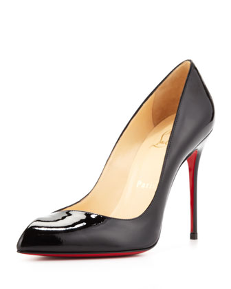 Christian Louboutin Corneille Asymmetric Red Sole Pump, Black - Neiman Marcus