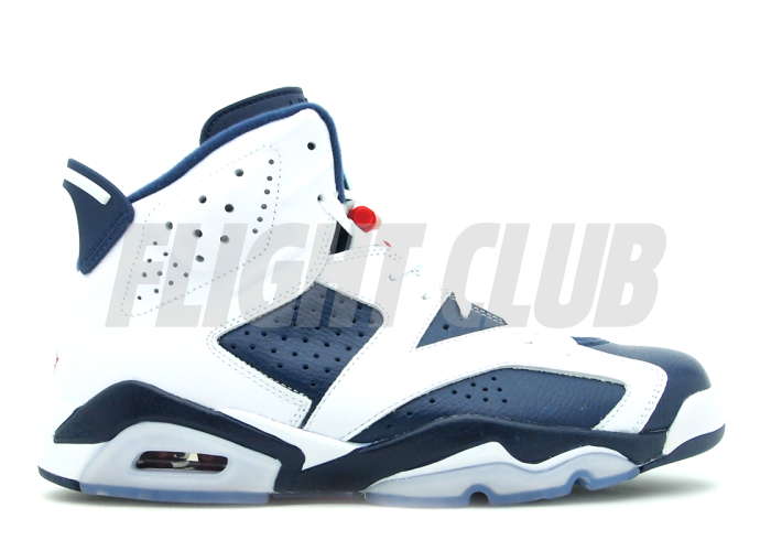 "air jordan 6 retro ""olympic 2012 release"" - white/midnight navy-vrsty red  