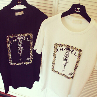 chanel chain gold white black coco blouse sexy t-shirt dope tweed mademoiselle summer outfits