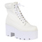 Eliza ankle boots in white