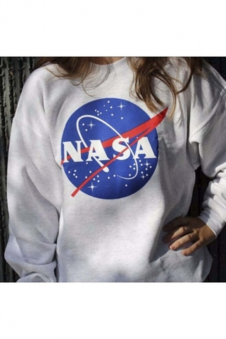 sweater nasa grey cool fashion style teenagers casual fall outfits winter outfits fall sweater winter sweater beautifulhalo