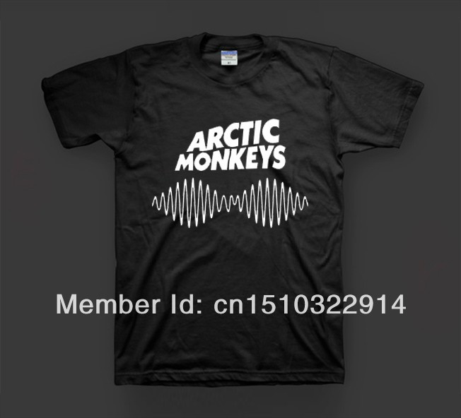 Free Shipping High quaility arctic monkeys indie rock and roll band 100% cotton casual fashion loose printing t shirt  dress tee-in T-Shirts from Apparel & Accessories on Aliexpress.com