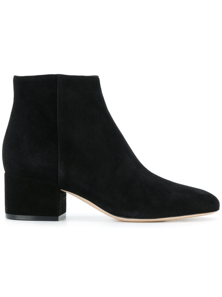 Sergio Rossi women classic ankle boots leather suede black shoes