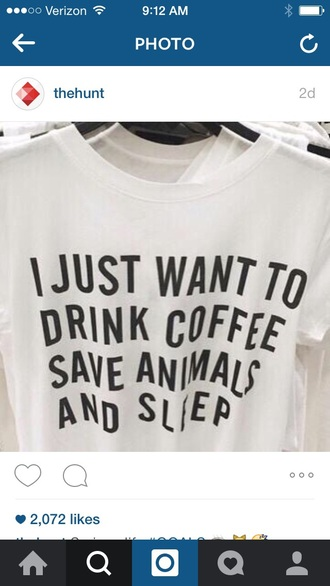 blouse funny graphic tee drink coffee animals dog t-shirt white t-shirt