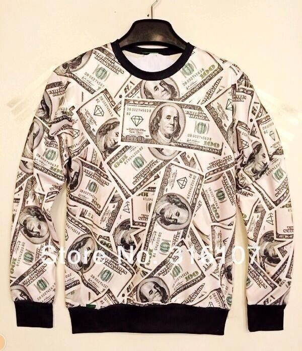 shirt with money on it