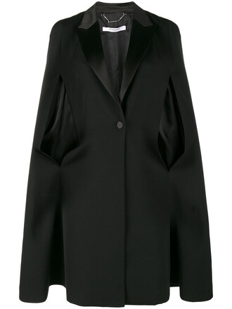 blazer women black silk wool jacket
