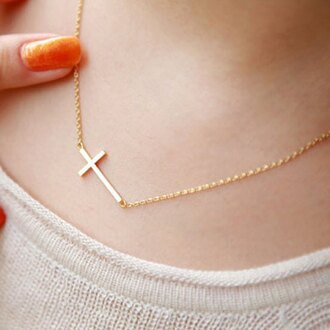 jewels necklace cross cross necklace gold pendant boho chic boho gold chain boho necklace jewelry