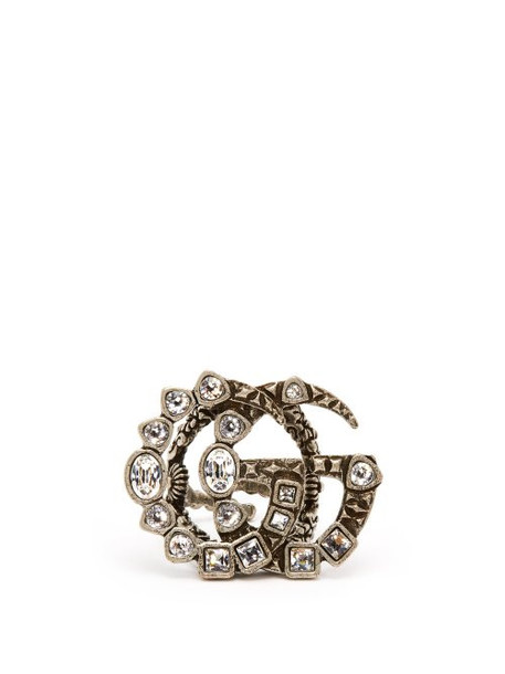 Gucci - Gg Crystal Embellished Ring - Womens - Crystal