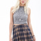 Pleated plaid mini skirt | forever 21 canada