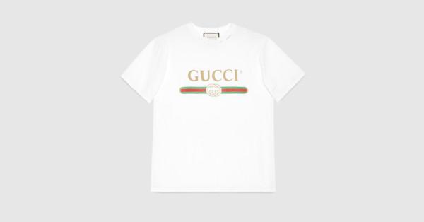 ebb6ddf4188e2 Gucci - Gucci logo cotton T-shirt