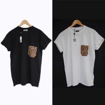 481b987ae2 Actual Fact Leopard Print Pocket Supreme Hip Hop Tee T-Shirt ...
