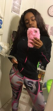 phone cover,fur,pink case,fur case,pink fur case,tumblr,cyber ghetto,wavy,vibes,aesthetic