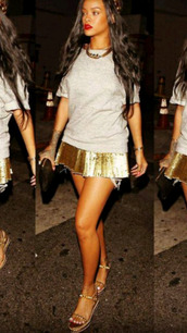 shoes,rihanna,gold,gold sequins,gold shoes,gold sandals