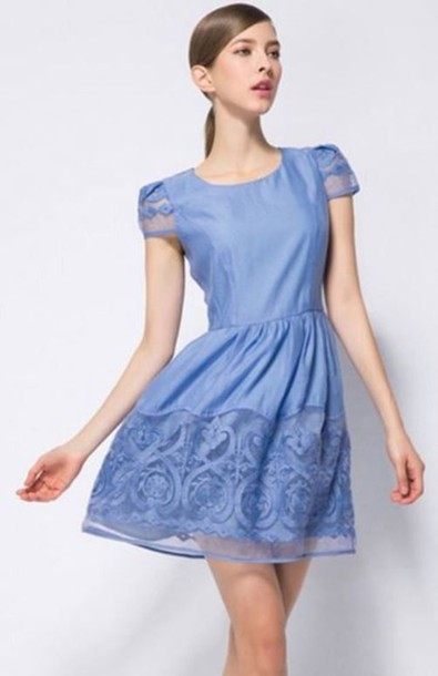 Blue Organza Dresses