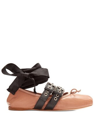 ballet flats ballet flats leather nude shoes