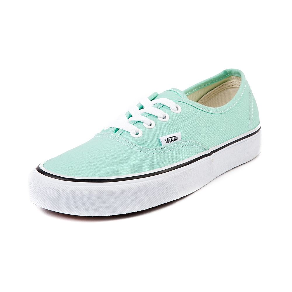 Vans authentic skate shoe in beach glass mint
