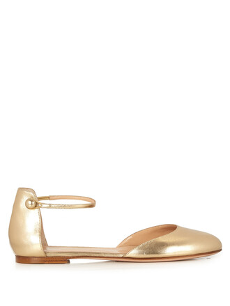 flats leather flats leather gold shoes