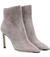 suede ankle boots,ankle boots,suede,grey,shoes