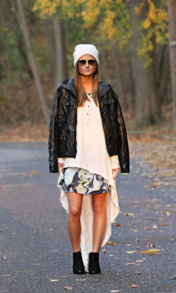 dress print sweater blogger to be bright asymmetrical