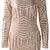 Gold Geometric Sequined Open Back Bodycon Dress on Storenvy