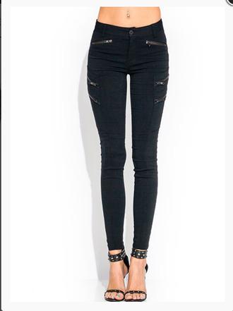 pants zip zipped jeans black pants skinny pants skinny jeans shoes zipped pants