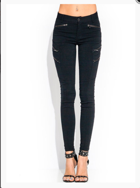 pants zip zipped jeans black pants skinny pants skinny jeans shoes zipped pants
