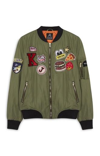 jacket bomber jacket patch