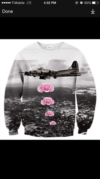 sweater sweatshirt roses crewneck crewneck sweatshirt crewneck sweater