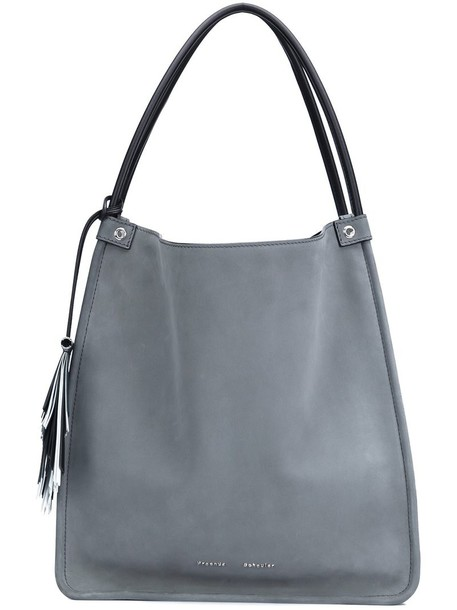 Proenza Schouler - Medium Nubuck Medium Tote - women - Calf Leather - One Size, Grey, Calf Leather