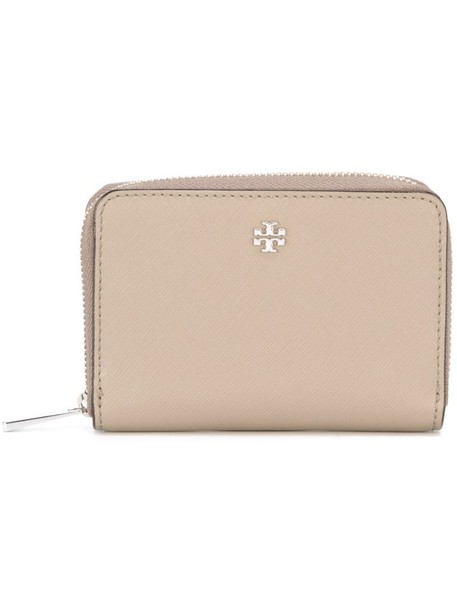 Tory Burch - 'Robinson' coin purse - women - Leather - One Size, Nude/Neutrals, Leather