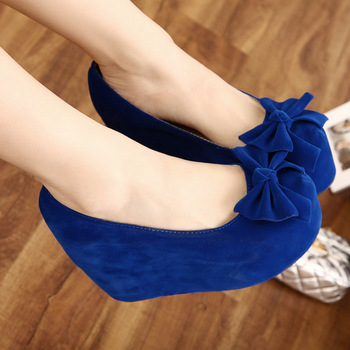 2013 spring and autumn fashion ultra high heels platform bow platform wedges single shoes women's high heeled shoes-inPumps from Shoes on Aliexpress.com