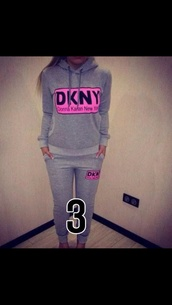 top,dkny,casual,grey sweater,tracksuit