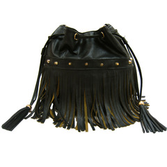 Rock like the 70's fringe bucket bag