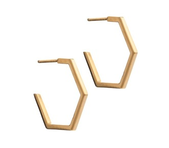jewels gold earrings hoop earrings geometric