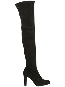 LUISAVIAROMA.COM - STUART WEITZMAN - 90MM STRETCH SUEDE OVER THE KNEE BOOTS