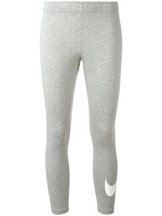 leggings women spandex cotton grey pants
