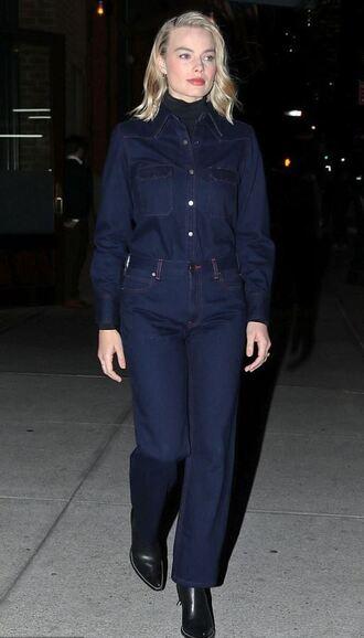 jeans denim denim shirt margot robbie streetstyle fall outfits celebrity shirt