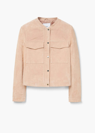 jacket mango suede suede jacket spring jacket peach pockets