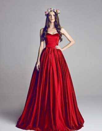 dress red dress red gown long dress long prom dress prom dress ball gown ball gown dress