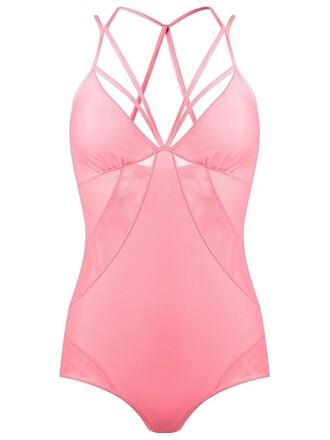 body women spandex purple pink underwear