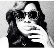 sunglasses,black sunglasses,black shades,all black everything,retro sunglasses,round sunglasses