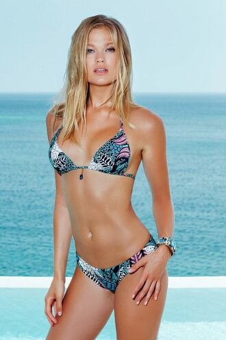 top bikini blue cheeky full coverage green halter top luxury print push up triangle womens sauvage bikiniluxe