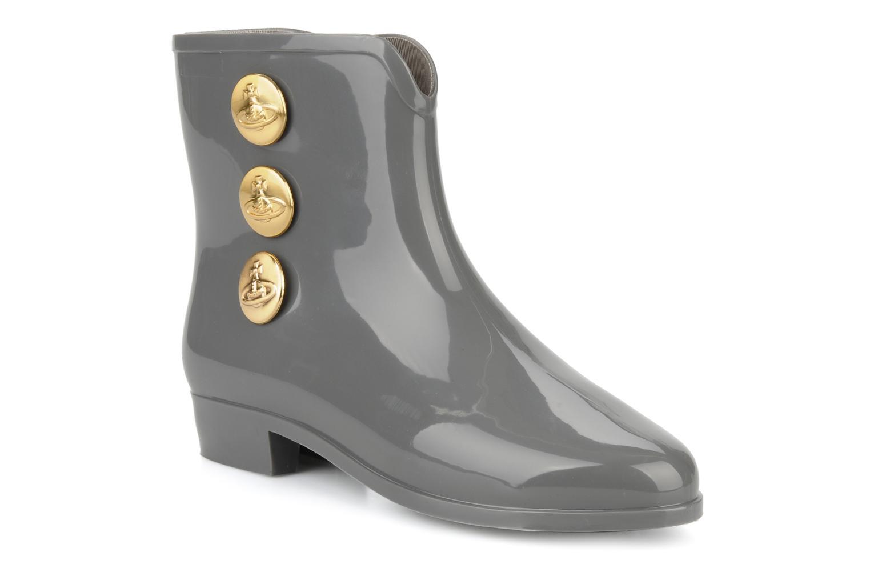 Vivienne Westwood Anglomania   Melissa Ankle Boot Bouton III Melissa (Gris) : livraison gratuite de vos Bottines et boots Vivienne Westwood Anglomania   Melissa Ankle Boot Bouton III Melissa chez Sarenza