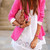 Lapel Cotton Suit - Pink