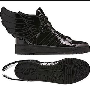 Mens Adidas OBYO Jeremy Scott JS Wings 2.0 Black Trainers Hi-Tops Original BNIB | eBay
