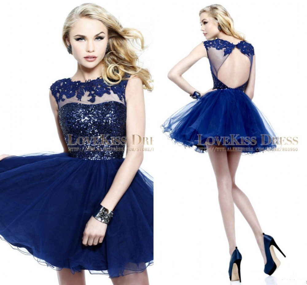 Navy blue cocktail dress outfit