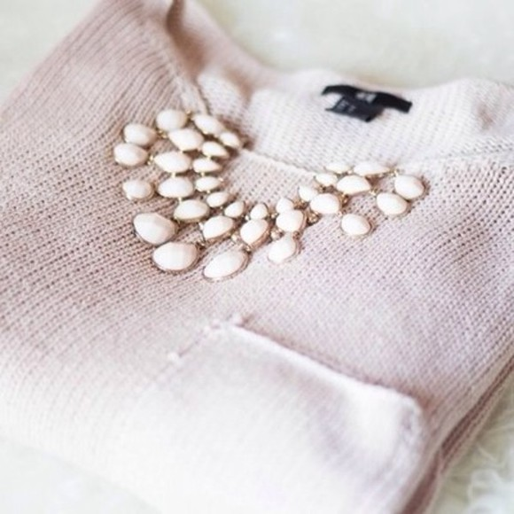 elegant sweater lovely girly pastel pink everyday