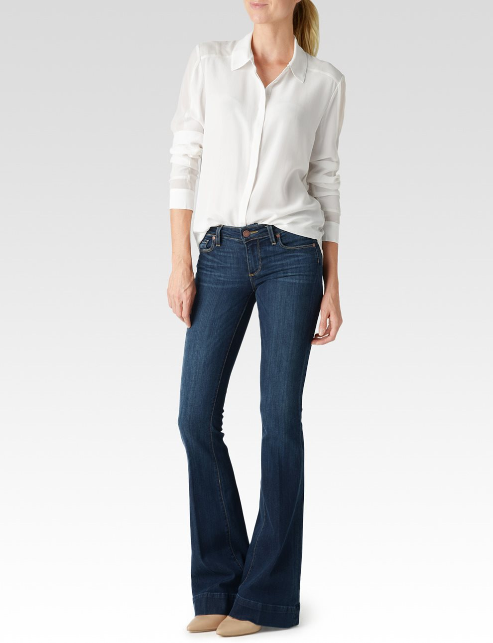 Tara Shirt - Antique White | Paige USA