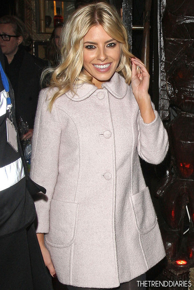 mollie king coat swing coat pastel pink pale pink light pink peter pan collar winter coat